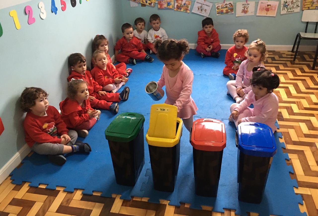 O Maternal II aprendeu sobre reciclagem! A introdução deste tema desde os primeiros anos é uma forma de sensibilizar as crianças sobre o cuidado com o meio ambiente 🌏